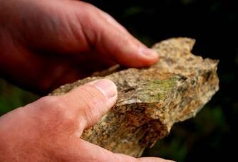 La roche granitique du Domaine de la Grenaudière