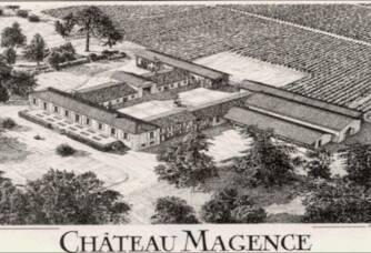 Photo historique du Château Magence