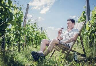 Julien Ferran dans ses vignes