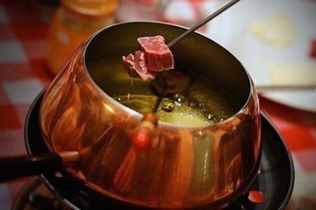 fondue bourguignonne et vin